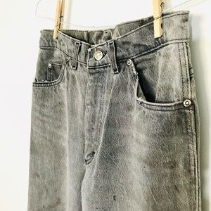Vintage Lee Straight Leg Mom Jeans Gray Stained